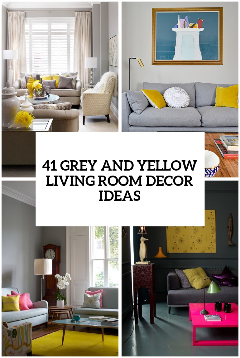 Best 41 Stylish Grey And Yellow Living Room Décor Ideas Digsdigs This Month