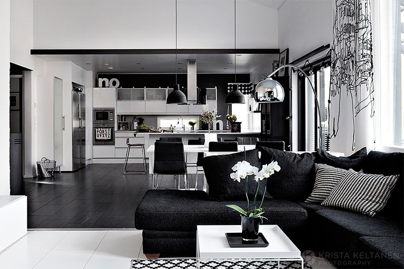 Best Elegant Black And White Interior Design With Comfortable This Month