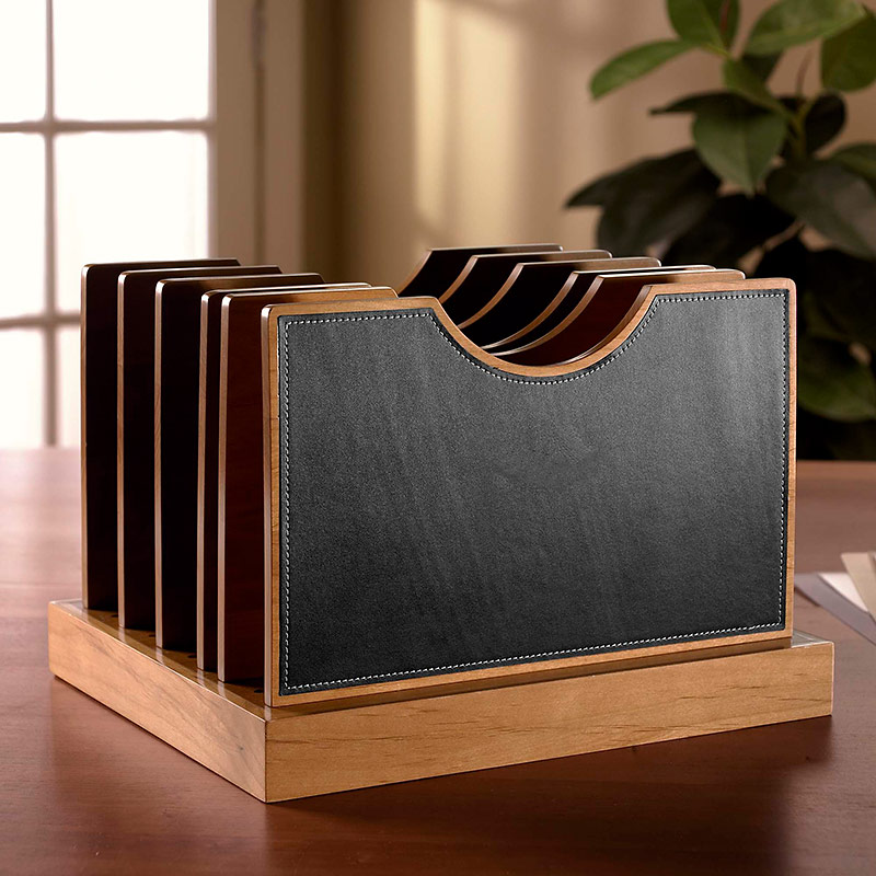 Best Cubi Adjust A File Large Leather Desk Organizer Levenger This Month