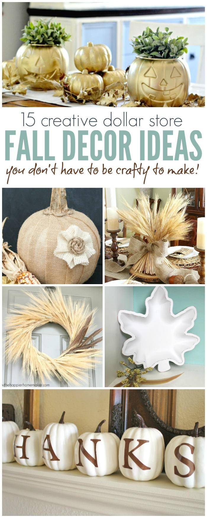 Best 30 Creative Dollar Store Fall Decor Ideas Anyone Can Make This Month