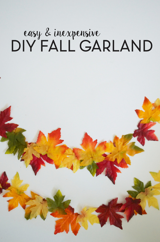 Best Diy Fall Leaf Garland Sincerely Sara D This Month