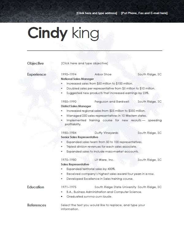 Resume References Template   shatterlion info resume references template