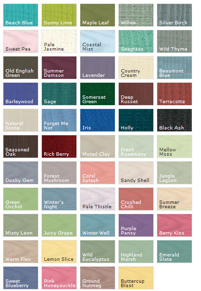 Garden Shed Colours