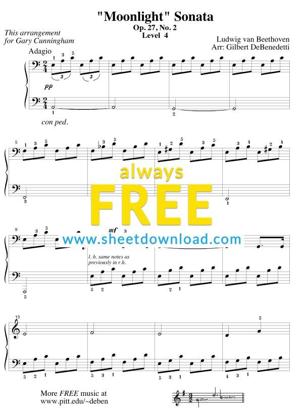 free printable sheet music for piano # 3