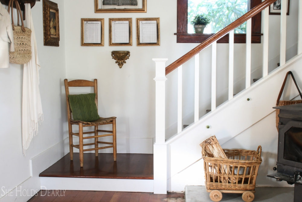 Farmhouse Newel Post Makeover She Holds Dearly   Newel Post Cap Designs   Exterior   Porch   Vintage   Fancy   Rustic