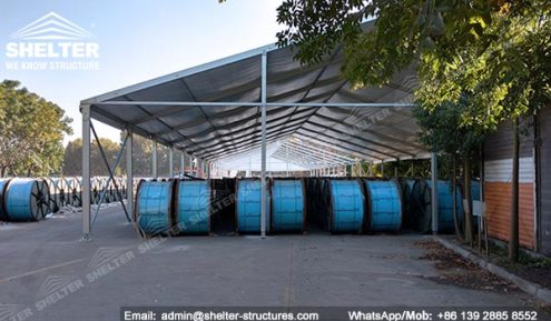 Portable Outdoor Storage   Modular Temporary Warehouse   Shelter Tent SHELTER Temporary Warehouse Structures   Portable Outdoor Storage Tent for  Cable Computer in Chile  6