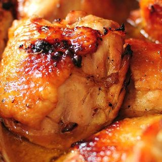 Honey Soy Baked Chicken Thighs Recipe | shewearsmanyhats.com