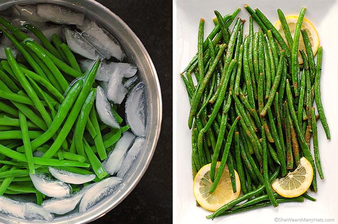 Easy Garlic Lemon Green Beans Recipe | shewearsmanyhats.com