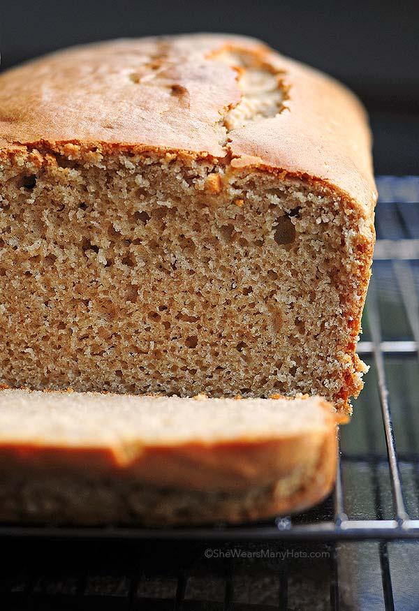 Peanut Butter Bread Recipe   shewearsmanyhats.com