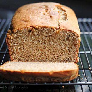 Quick Peanut Butter Bread Recipe   shewearsmanyhats.com