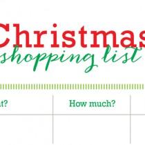 Free Printable Christmas Shopping List