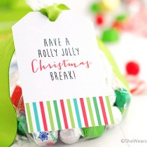 Christmas Goodie Bag Tags free instant download printables