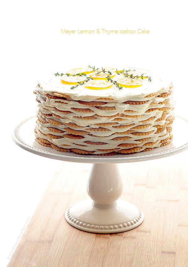 Easy Meyer Lemon and Thyme Icebox Cake Recipe   shewearsmanyhats.com