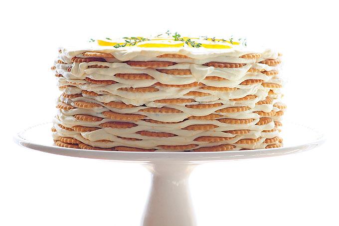 Lemon Thyme Icebox Cake Recipe