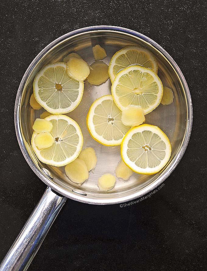 Soothing Lemon Ginger Tea | shewearsmanyhats.com