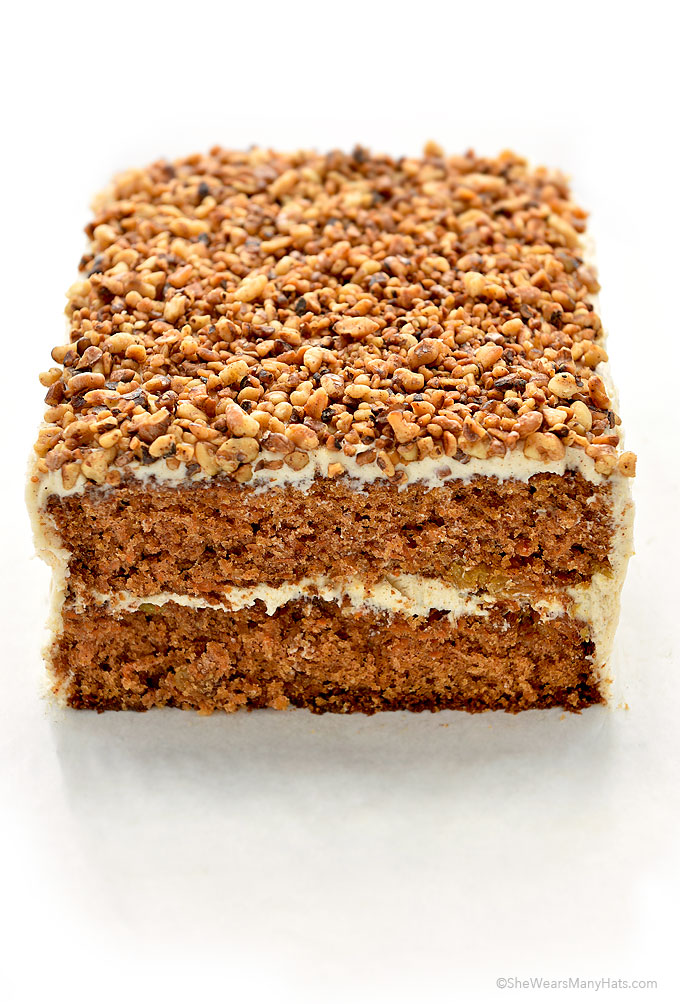 Carrot Cake Recipe with Cinnamon Cream Cheese Frosting