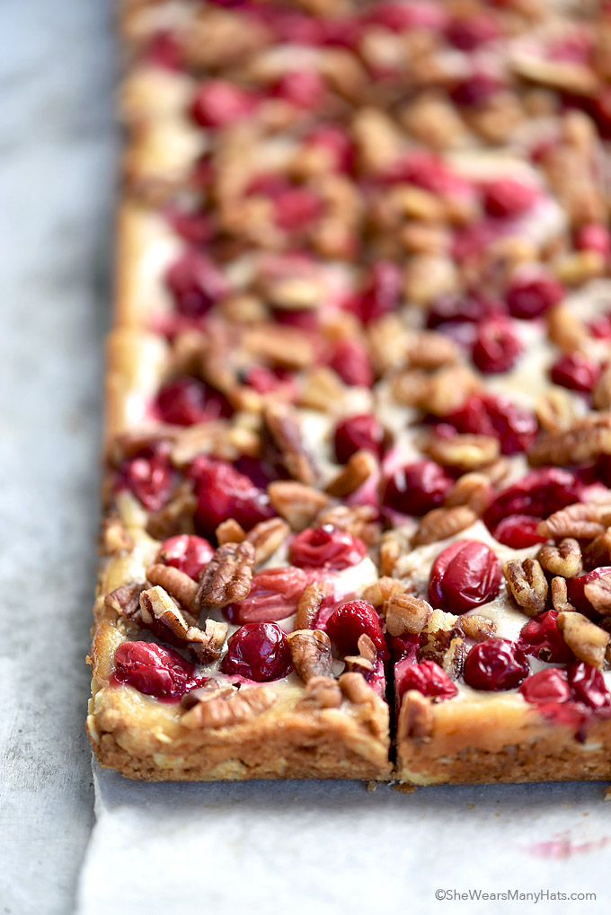 These Nutty Oatmeal Cranberry Bars are made with fresh cranberries, oatmeal and pecans for an easy sweet little biteor main dessert for any holiday occasion.