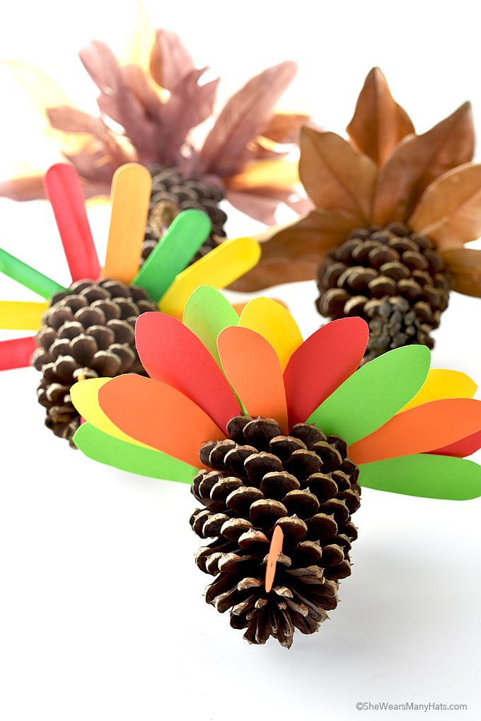 Fun and Easy Thanksgiving Pine Cone Turkey Craft