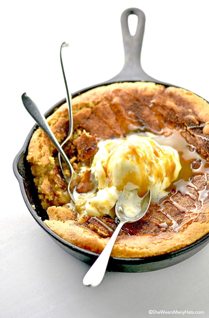 Snickerdoodle Skillet Cookie Cake Recipe