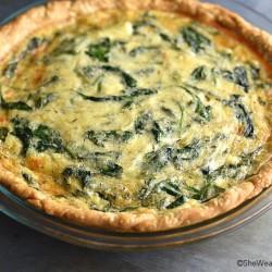 Sautéed Onion Gruyere Spinach Quiche Recipe