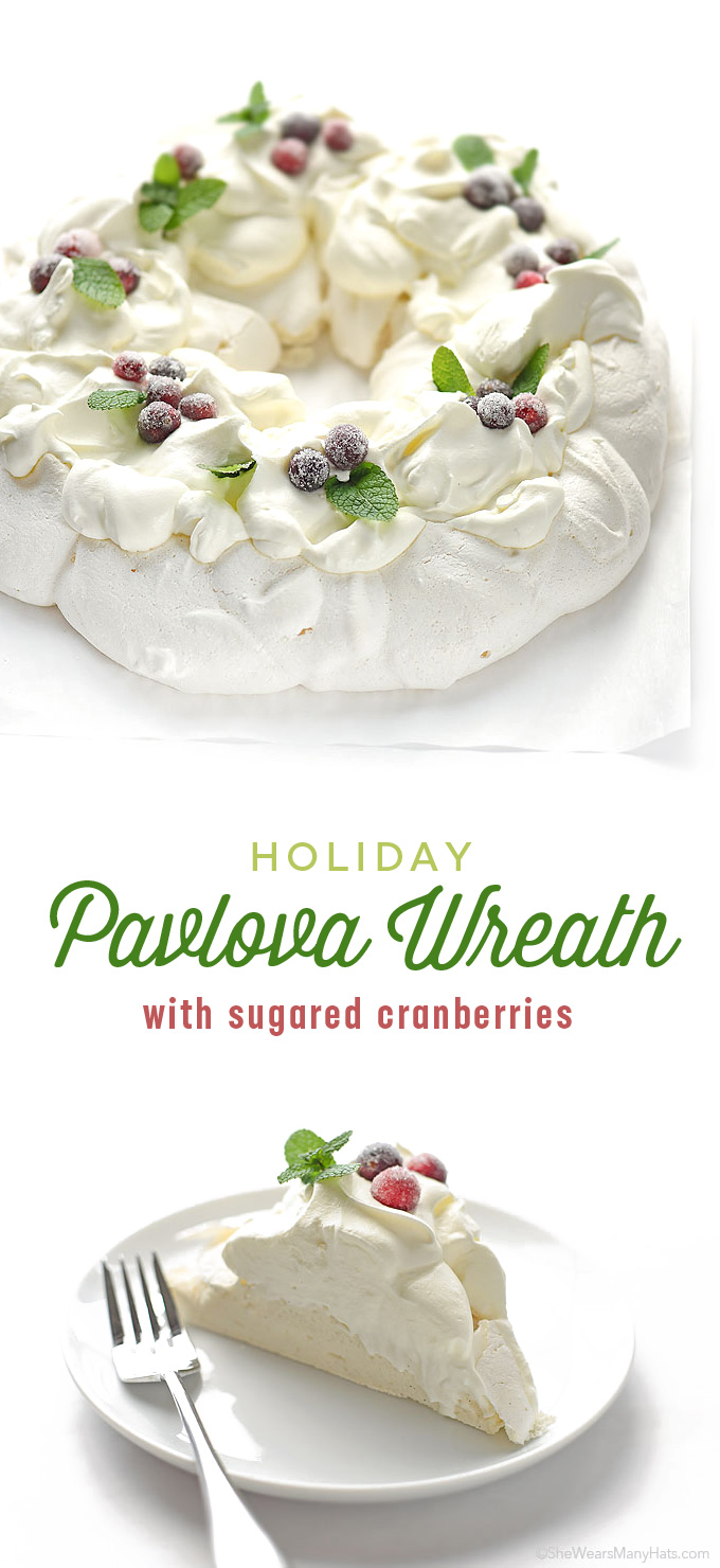 Holiday Pavlova Wreath Recipe | shewearsmanyhats.com
