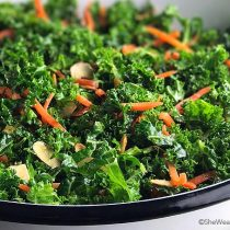 Garlicky Orange Kale Salad Recipe   shewearsmanyhats.com
