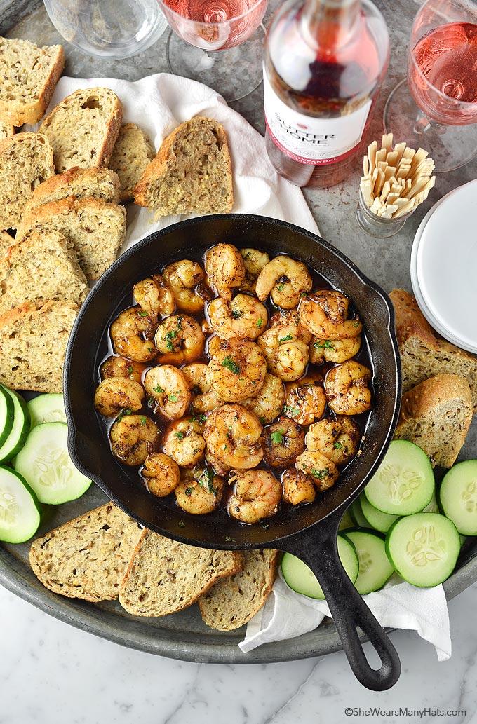 Easy Spicy Shrimp Recipe | shewearsmanyhats.com