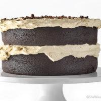 Chocolate Stout Cake Recipe with Espresso Buttercream   shewearsmanyhats.com