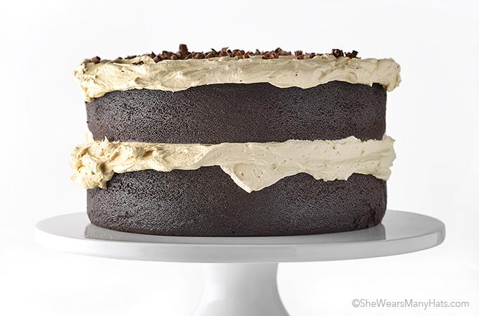 Chocolate Stout Cake Recipe with Espresso Buttercream | shewearsmanyhats.com
