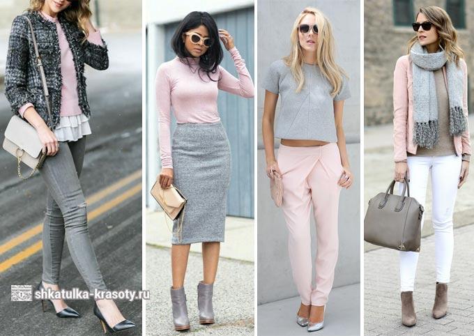 옷에 분홍색의 조합