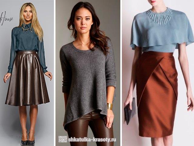 服の茶色の灰色
