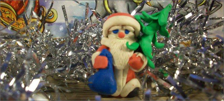Санта мұздатқыш-пластилин