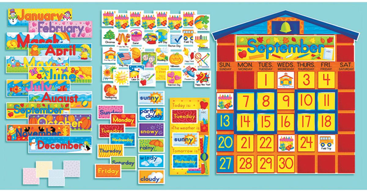 Bulletin Board Set School House Calendar Sc 0439394058