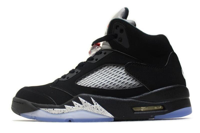 10 Metallic Jordan V Silver Black 5