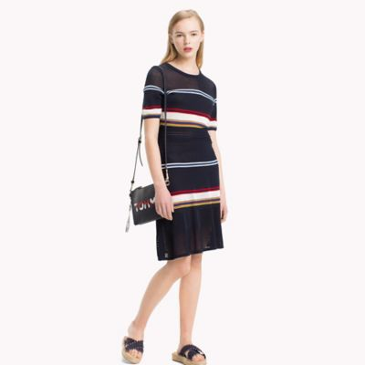 Women s Dresses   Skirts  Tommy Hilfiger USA Short Sleeve Stripe Dress