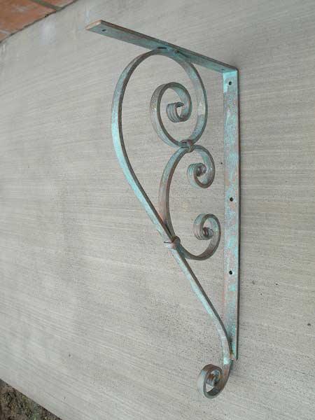 Large Wrought Iron Bracket Shoreline Ornamental Iron