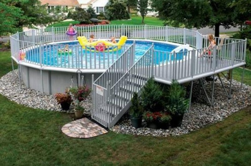 Above Ground Pools Ground Decks