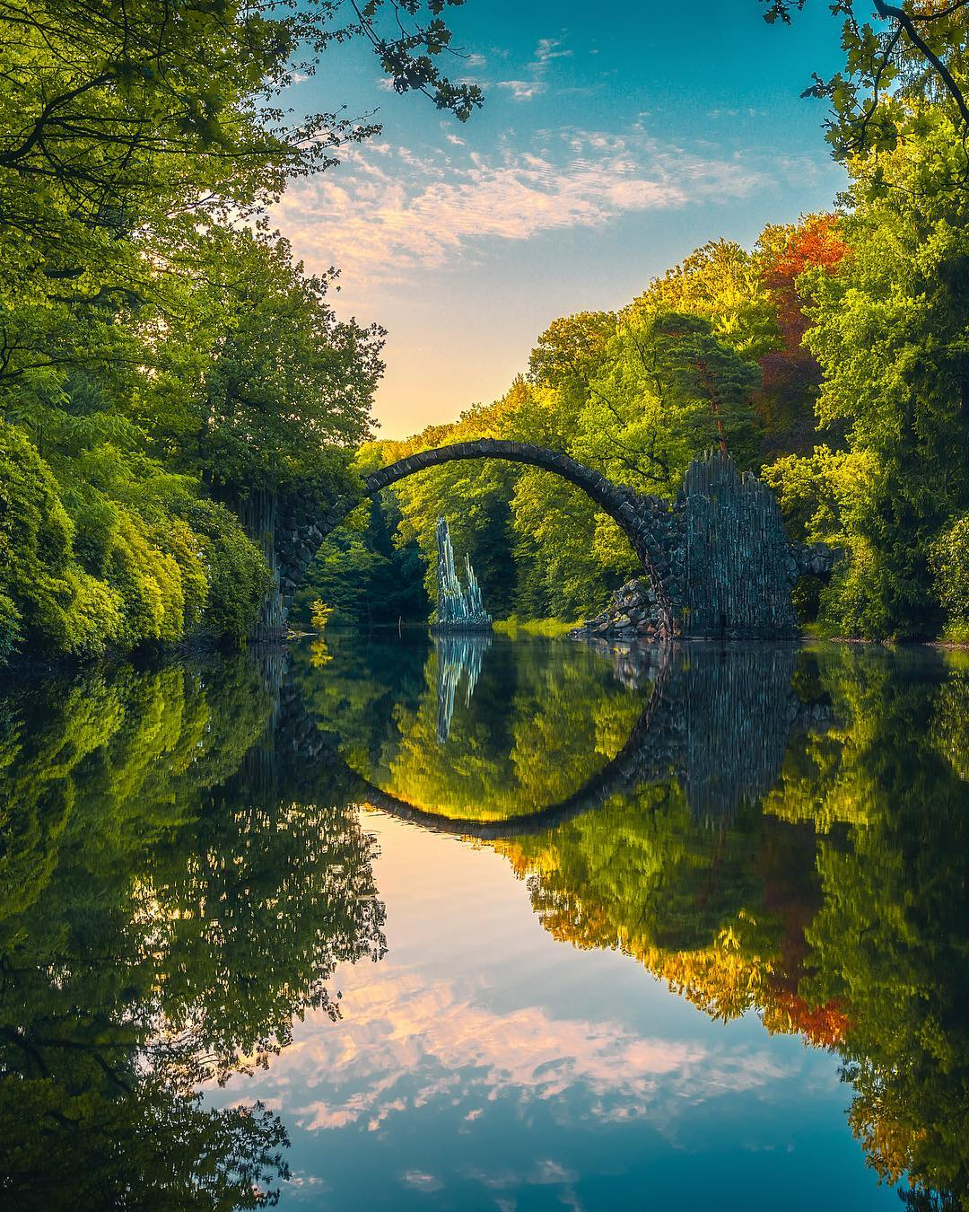 Rakotzbr 252 Cke Devil S Bridge Saxony Germany Beautiful