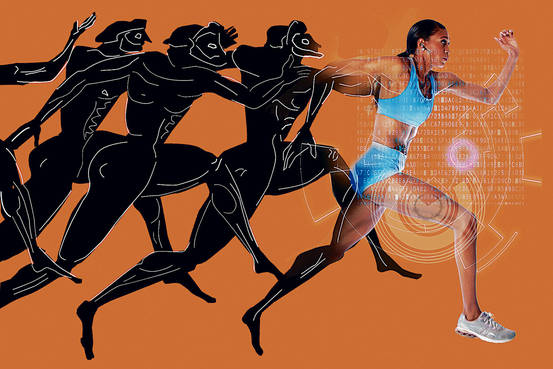 Ancient Greek Olympic Athletes Running