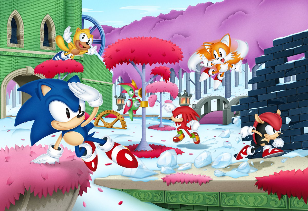 SEGA Reveals Special Artwork For Sonic Mania Plus   My Nintendo News sonic mania plus art