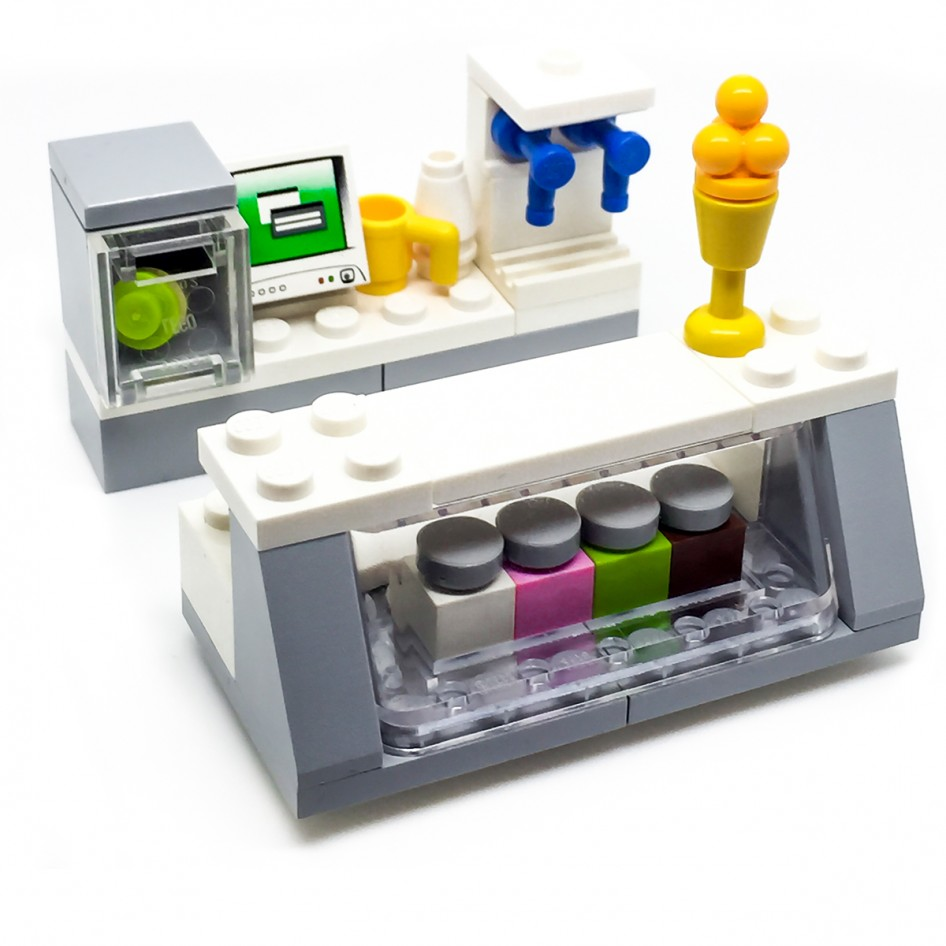 LEGO Ice Cream Shop Counter Bar Parlour   Signature Bricks LEGO Ice Cream Shop Counter Bar Parlour