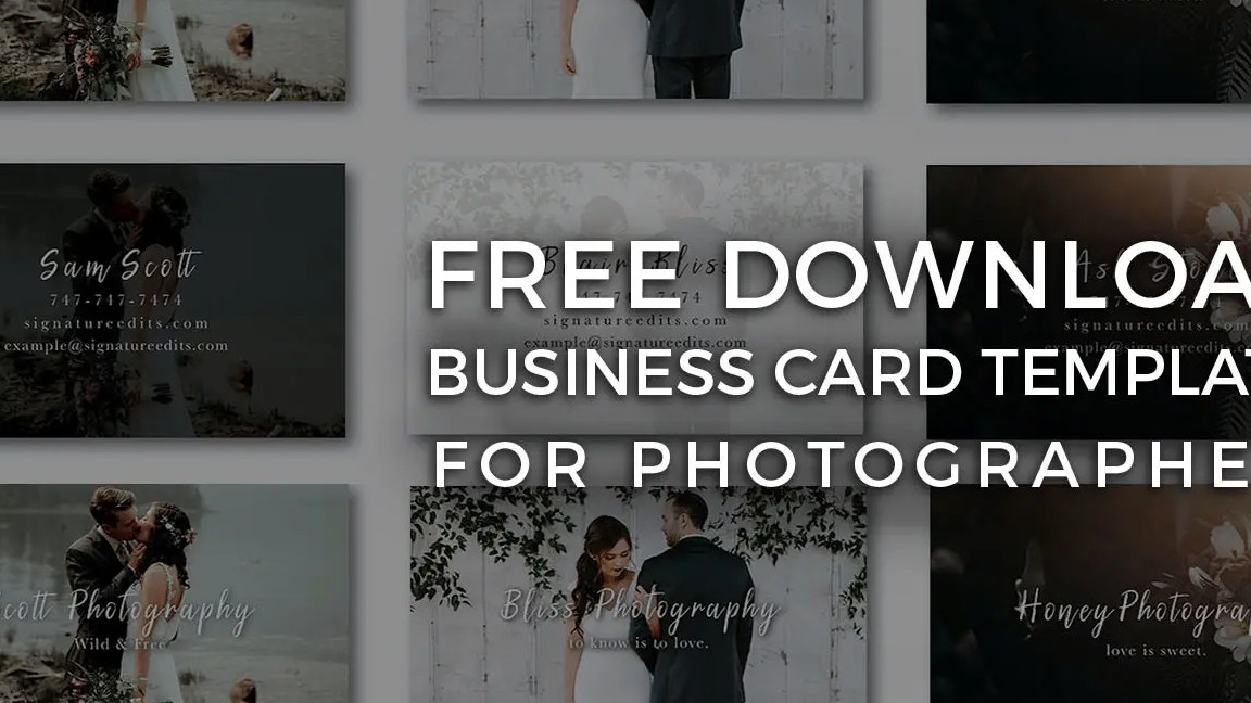 HD Decor Images » FREE Photographer Business Card Templates    Signature Edits   Edit     Free Photographer Business Card Template PSD download