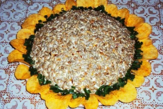 Ensalada girasol con semillas