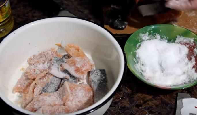 форель с луком и маслом