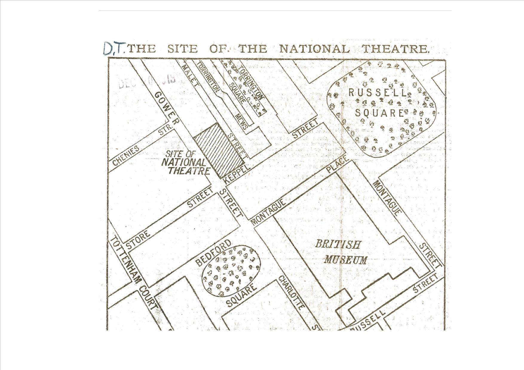 Harley granville barker argued that people would set out deliberately to visit the theatre rather than drop in by chance 'a place they will decide upon at