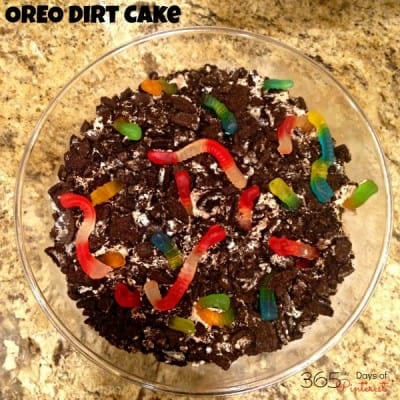 OREO Dirt Cake is an easy and delicious pudding dessert perfect for theme parties or just a yummy snack!