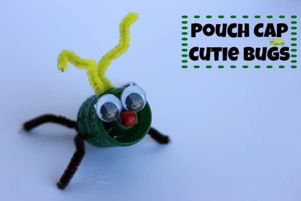 fruit pouch cap bug craft