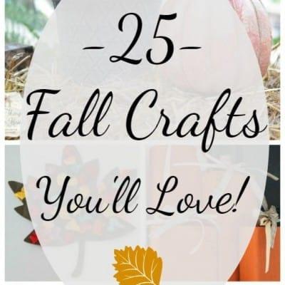 25 fall crafts