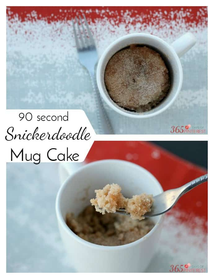 Warm, soft and sweet, this Snickerdoodle Mug Cake takes only 90 seconds to make and tastes just like its cookie namesake. via @nmburk