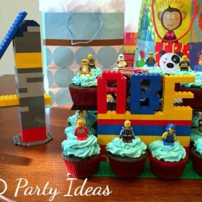 easy lego party ideas display